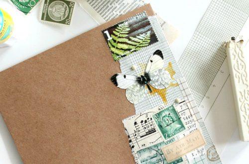 collage op een envelop