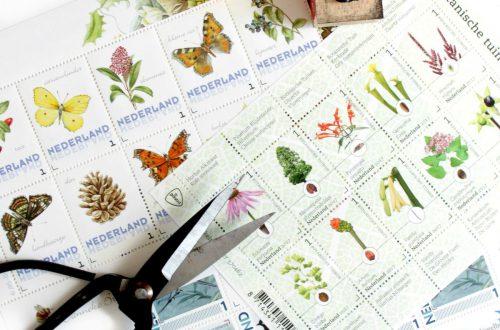 postzegels botanisch thema