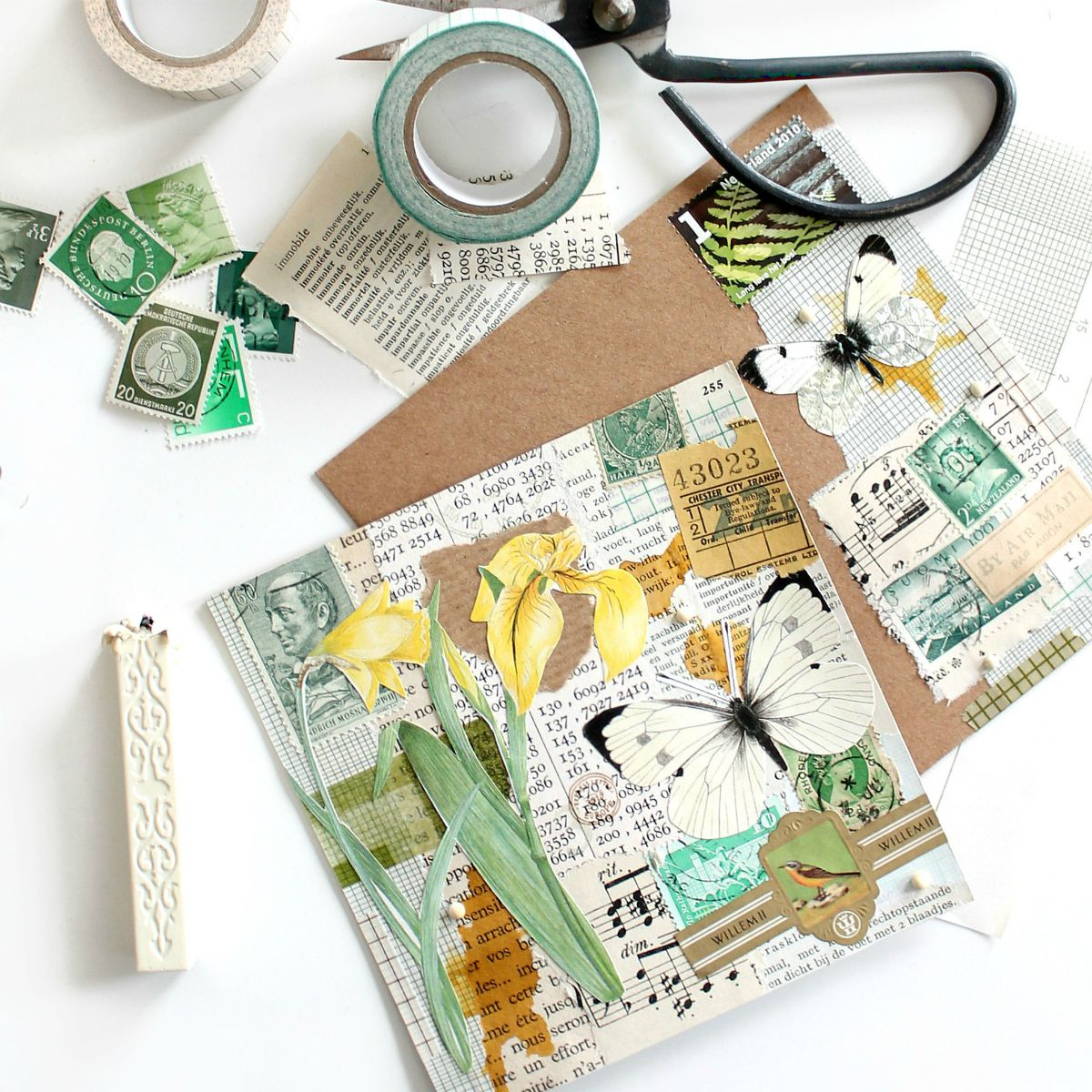 snailmail botanische collage