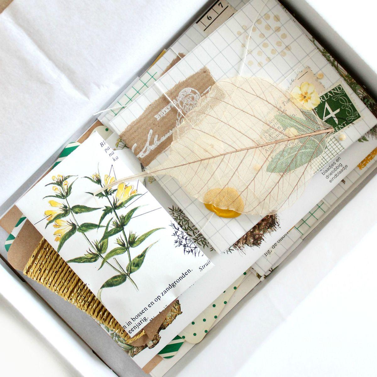 Mini swap van papierwaren in zomers thema