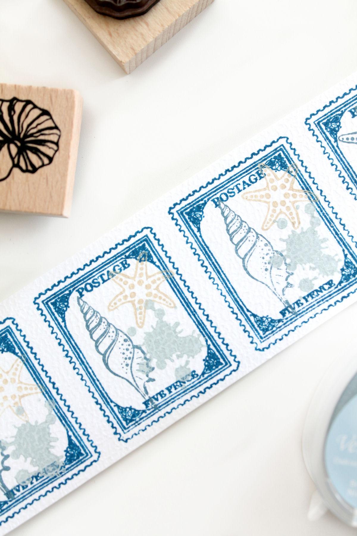 DIY: decoratieve postzegels stempelen