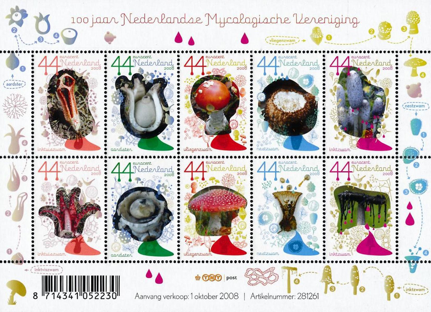 Postzegels voor snailmail in thema herfst