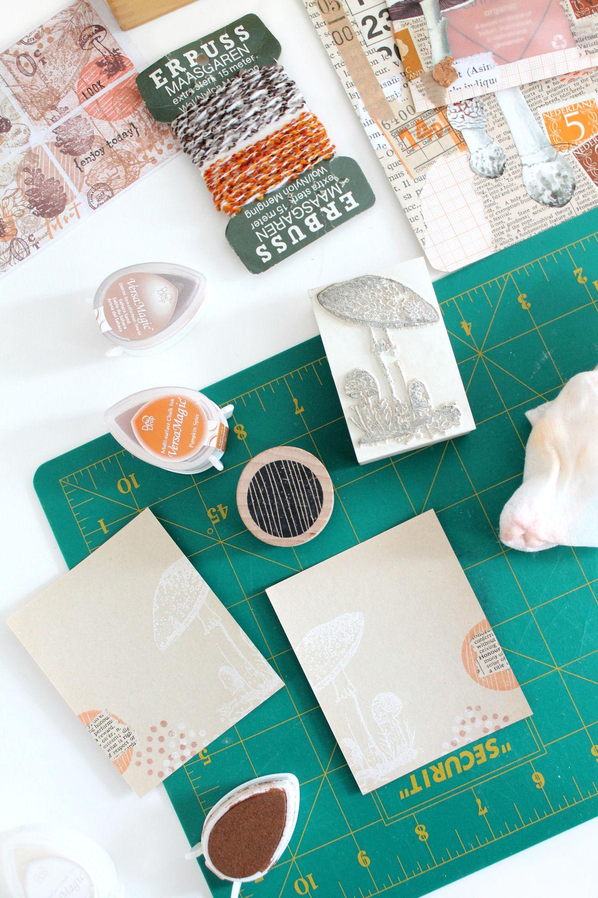 DIY: mini memoboekje stempelen