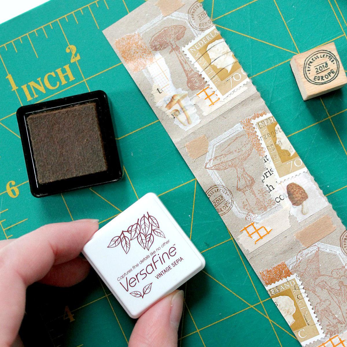 DIY: collage roll van restjes papier