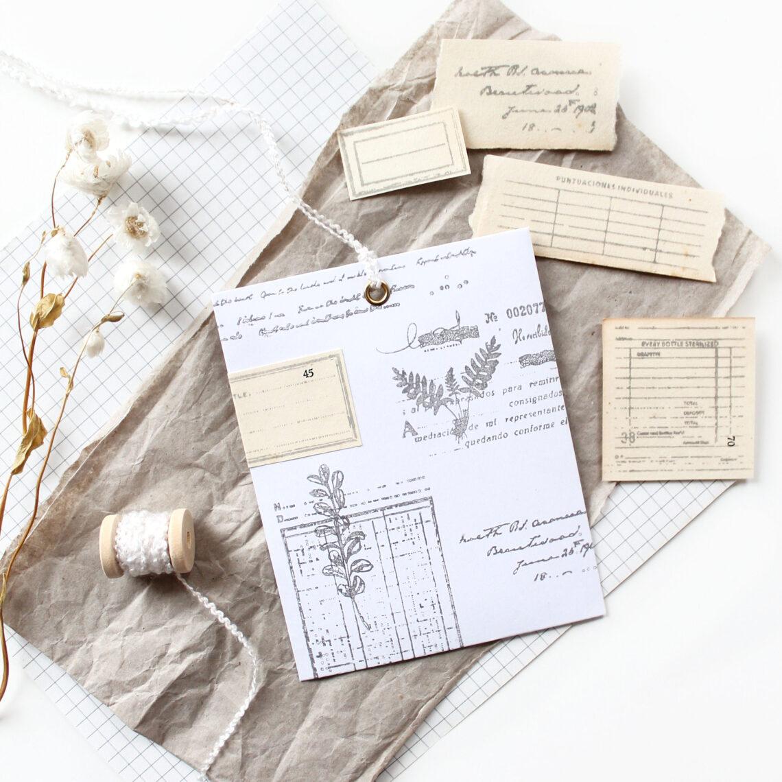 Goodies voor snailmail verpakken in wit printpapier
