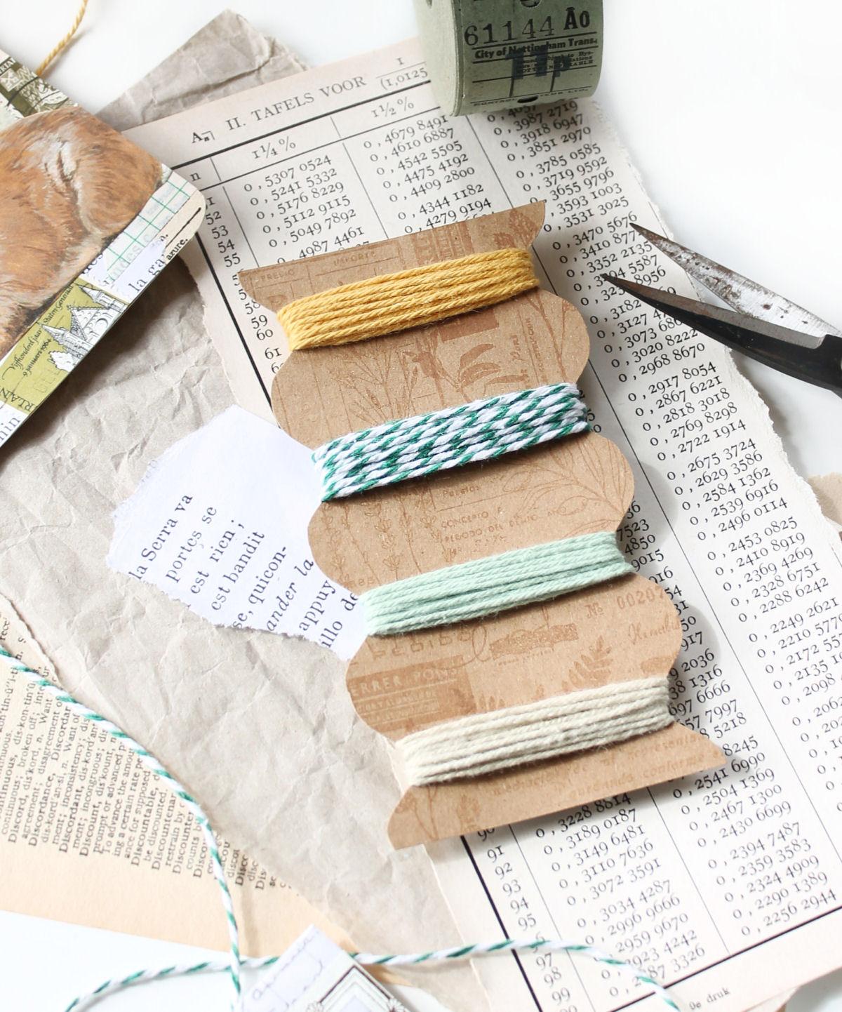 Zo maak je zelf een garenkaartje van papier