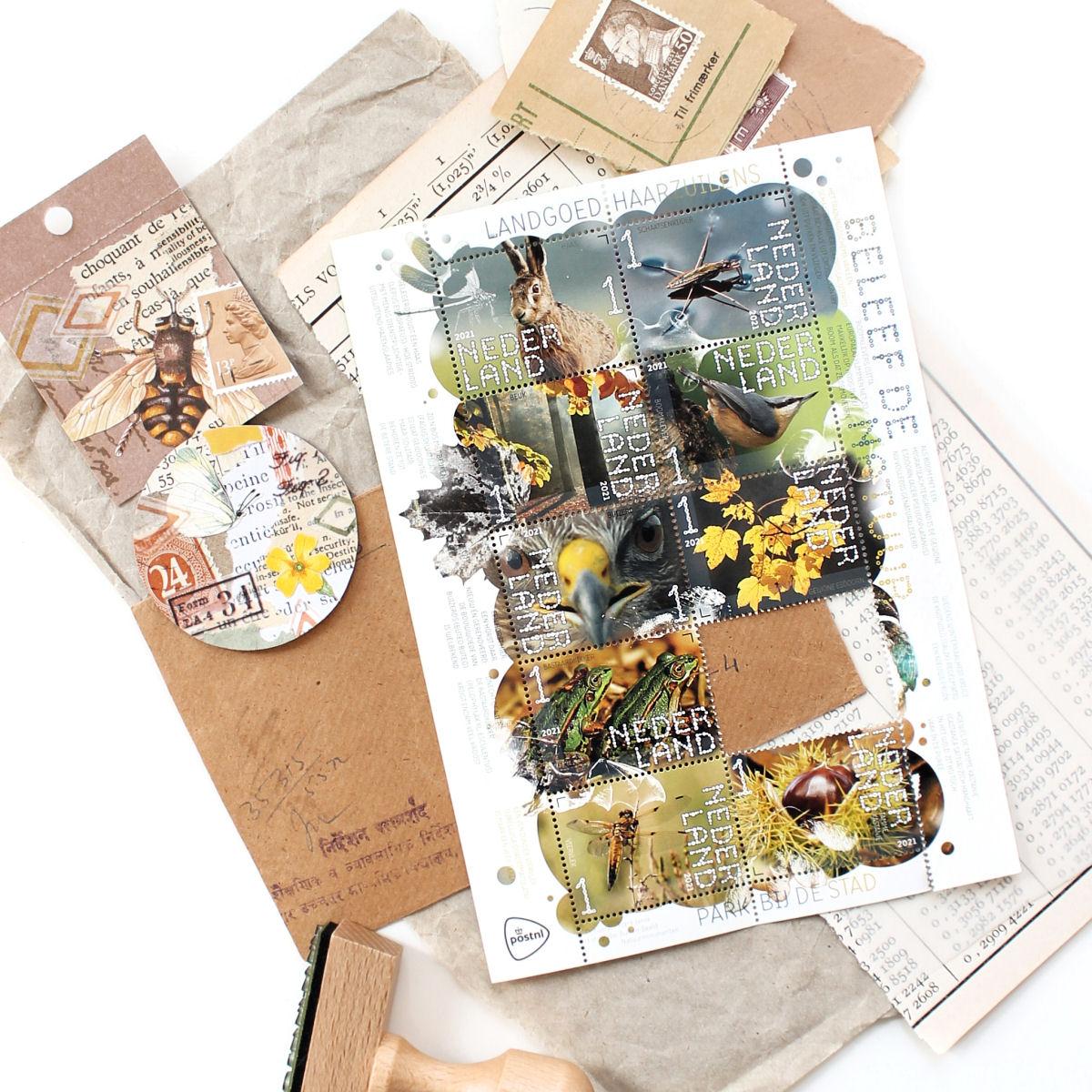 Botanische postzegels: Beleef de natuur - Landgoed Haarzuilens