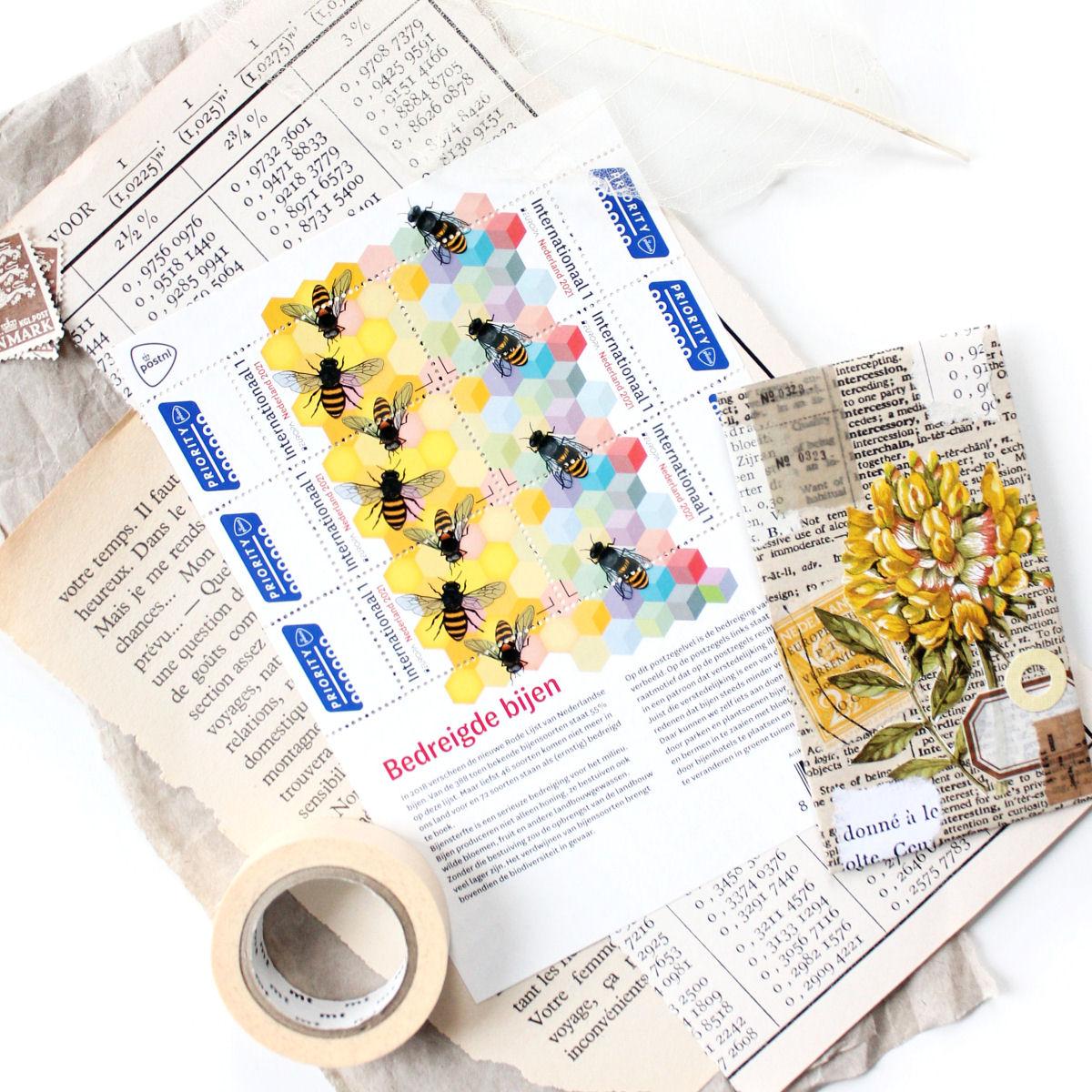 Botanische postzegels: Bedreigde bijen